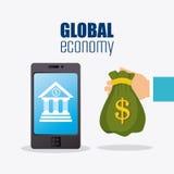 Economia global, dinheiro e negócio Imagem de Stock Royalty Free