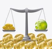 Economia global, dinheiro e negócio Fotografia de Stock Royalty Free