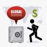 Economia global, dinheiro e negócio Fotos de Stock