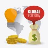 Economia global, dinheiro e negócio Fotografia de Stock