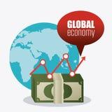 Economia global, dinheiro e negócio Imagem de Stock