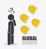 Economia global, dinheiro e negócio Imagens de Stock Royalty Free