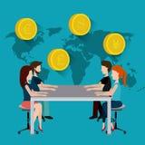 Economia global, dinheiro e negócio Foto de Stock