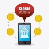 Economia global, dinheiro e negócio Foto de Stock Royalty Free