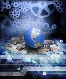 Economia globale di affari di soldi Fotografia Stock Libera da Diritti
