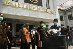 ECONOMIA GLOBALE DI COLPO DI PREZZI DEL PETROLIO DELL'INDONESIA Immagini Stock