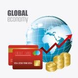 Economia globale, soldi ed affare Fotografia Stock