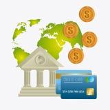 Economia globale, soldi ed affare Fotografie Stock Libere da Diritti
