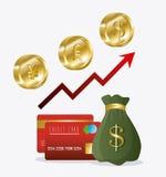 Economia globale, soldi ed affare Immagine Stock