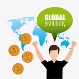Economia globale, soldi ed affare Fotografie Stock