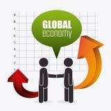 Economia globale, soldi ed affare Immagini Stock