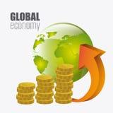 Economia globale, soldi ed affare Immagini Stock Libere da Diritti