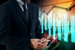 Economia, investimento e concetto di finanza Fotografie Stock Libere da Diritti