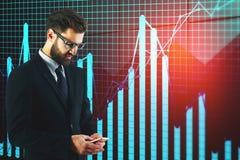Economia, investimento e concetto di successo Immagine Stock Libera da Diritti