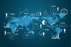 Economia moderna do negócio global do vetor ilustração royalty free