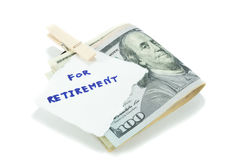 Economia para a aposentadoria Fotografia de Stock Royalty Free