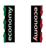 Economia in su giù l'illustrazione Fotografia Stock Libera da Diritti