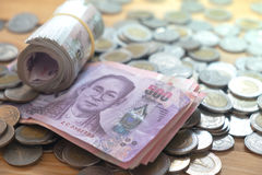 Economia tailandesa da moeda Imagem de Stock