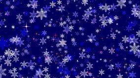 Economias animados da tela do sumário do Natal do inverno video estoque