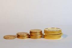 Economias ao longo do tempo, conceito do ouro Imagens de Stock Royalty Free