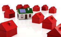 Economias de energia solares Fotos de Stock