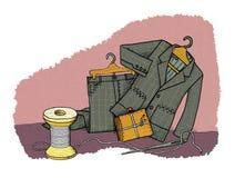 Economias do agregado familiar, humor ilustração do vetor
