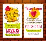 Economias do convite do casamento os cartões de data Fotografia de Stock