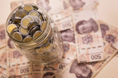 Economias dos pesos mexicanos Fotos de Stock Royalty Free