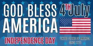 Economias lisas América do deus do cartaz no quarto de julho Imagens de Stock Royalty Free