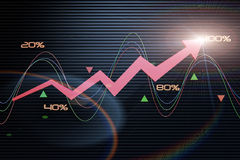 Economic arrow. This picture shows the growth of the economy, and economic growth, it can be used in economy class of advertising campaigns Stock Photo