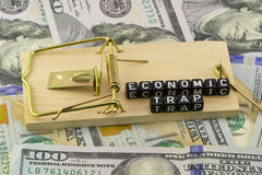 The economic background to trap mousetrap Stock Photography