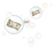 Economic bubble Royalty Free Stock Photos