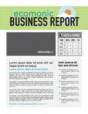 Economic business report Stock Photography