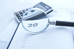 Economic calculations. Accounting Stock Images