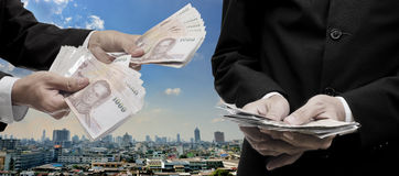 Economic capital injection concept Stock Images