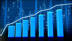 Economic chart growth stock footage