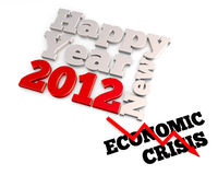 Economic cirsis and year 2012. 3D abstract concept rendering Stock Photos