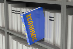 Economic concept. On the bookshelf Stock Photos