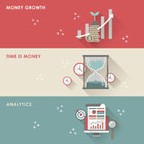 Economic concept for flat design Stock Photography