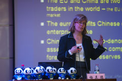 Economic Counsellor speech Royalty Free Stock Image