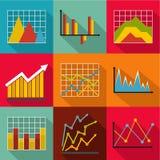 Economic course icons set, flat style. Economic course icons set. flat set of 9 economic course vector icons for web isolated on white background Stock Photo
