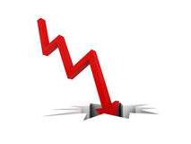 Economic Crisis. Business fall. 3d render Royalty Free Stock Photo