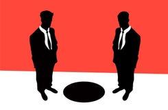 Economic crisis. Vector illustration: black hole of an economic crisis Royalty Free Illustration
