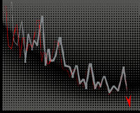 Economic crisis. Business graph moving down-vector illustration Royalty Free Stock Photos