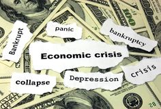 Economic crisis Royalty Free Stock Photos