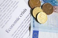 Economic crisis. News with ten cents Stock Image