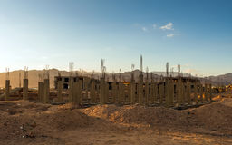 Economic crisis Abandoned construction in Egypt Stock Photography