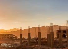 Economic crisis Abandoned construction in Egypt Royalty Free Stock Image