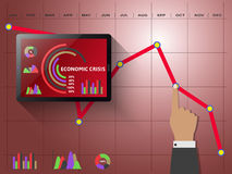 Economic crisis as concept Royalty Free Stock Image