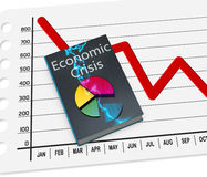 Economic crisis. Book of the economic crisis, with data Royalty Free Stock Photography